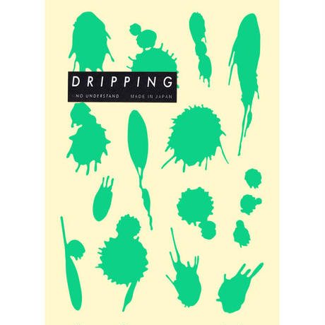DRIPPING Sticker M(エメラルドグリーン)