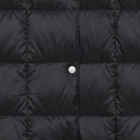 【レディース】Vネックボタン ロングインナーダウンジャケット オフホワイト