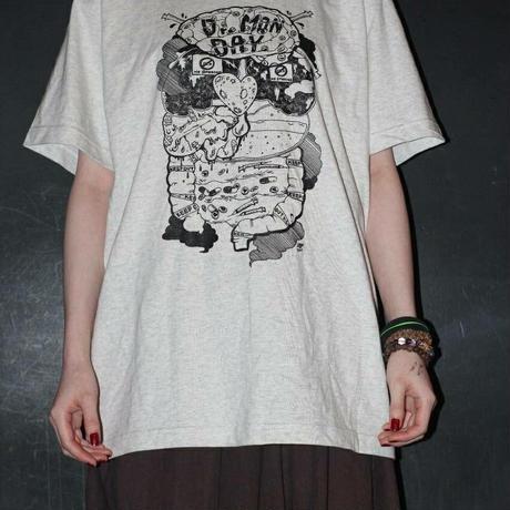 Dr.Monday-  臓器Tシャツ・オートミール