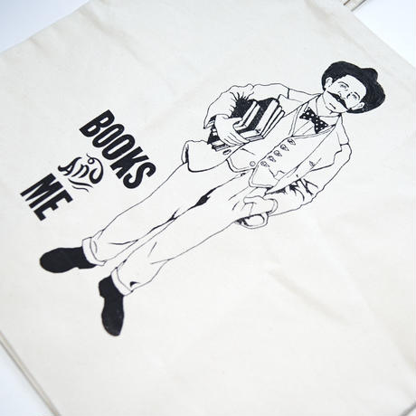 "Tote Bag ""BOOKS and ME"" L"