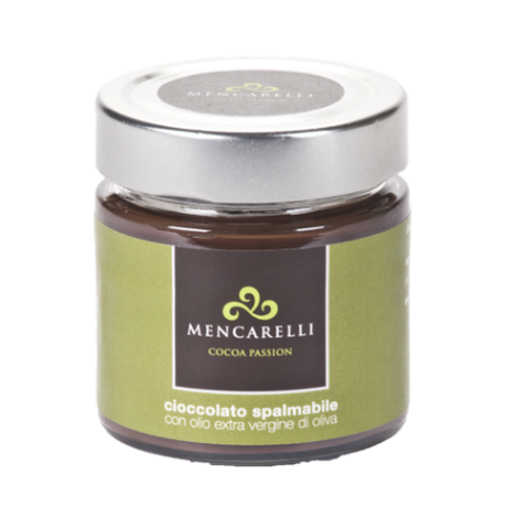 SPREADABLE CHOCOLATE WITH EXTRA VIRGIN OLIVE OIL