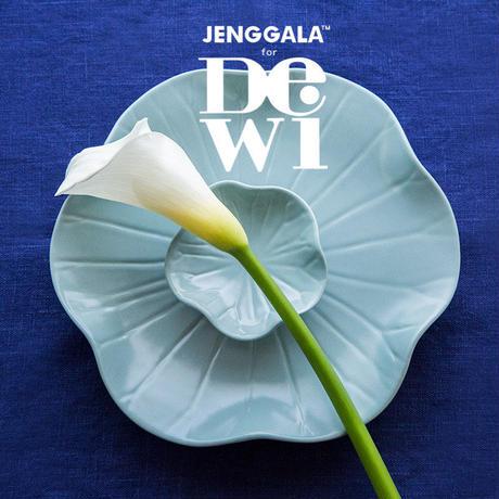 ジェンガラ デヴィ・コレクション ロータスリーフプレートL(Lotus Leaf Plate L)アクアブルー