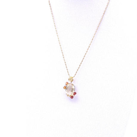 K18/WGベリルダイヤ  ネックレス