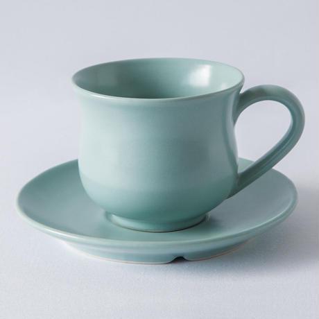 ジェンガラ デヴィ・コレクション  コーヒーカップ(Coffee Cup & Saucer)  マットグリーン