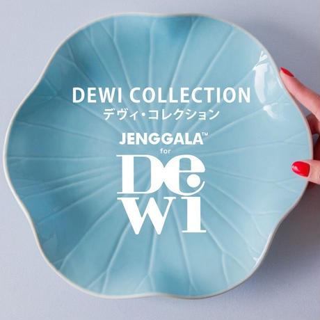 ジェンガラ デヴィ・コレクション ロータスリーフプレートS(Lotus Leaf Plate S)アクアブルー