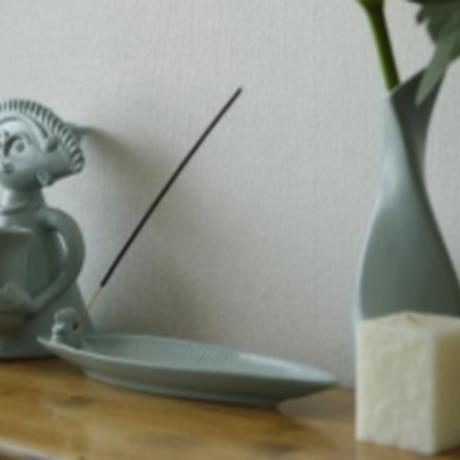 ジェンガラ デヴィ・コレクション 蛙のお香立て(Incense Holder with Frog)  マットグリーン