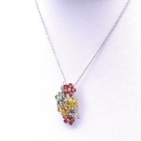 WGカラーサファイア・ダイヤ  ネックレス