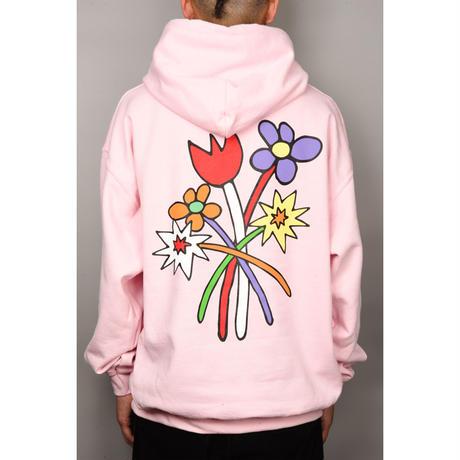 Bouquet Hooded Sweatshirt (Light Pink)