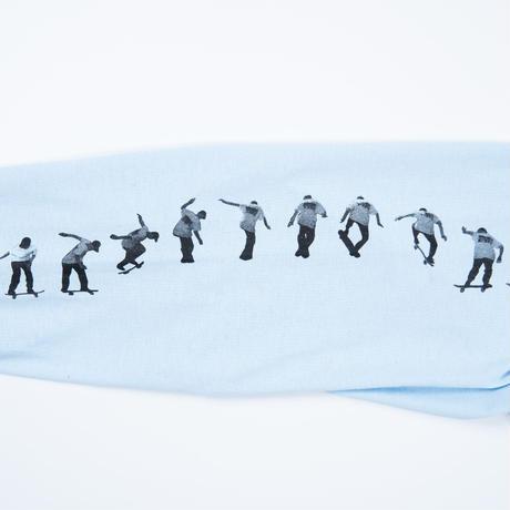 """Marfa by Kazuhiko Fujita x Diaspora skateboards """"SYMBIOSIS"""" L/S TEE (Powder Blue)"""
