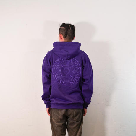 Tonal Magic Circle Hooded Sweatshirt (Purple)