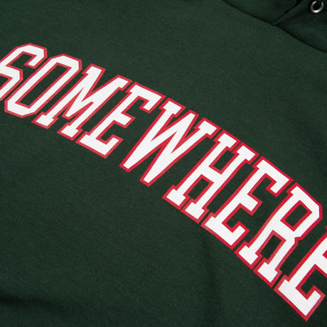 Somewhere Hooded Sweatshirt (Dark Green)