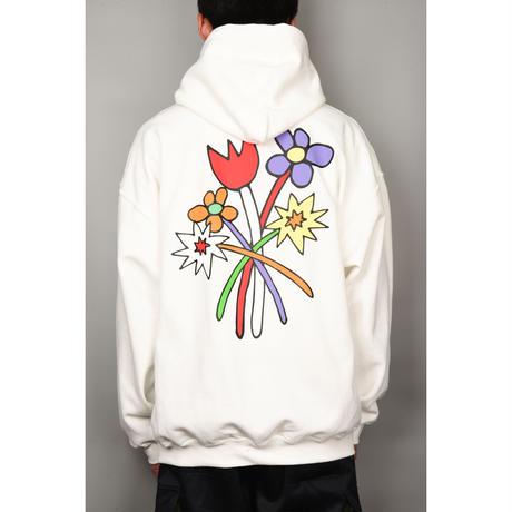 Bouquet Hooded Sweatshirt (White)