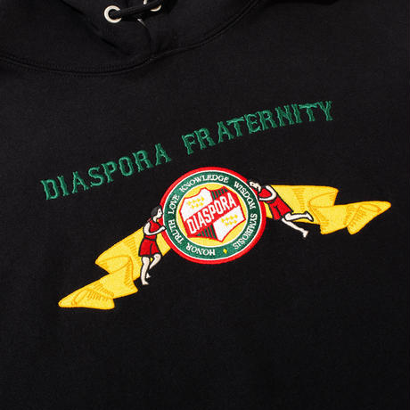 6 Elements Embroidered Hooded Sweatshirt (Black)