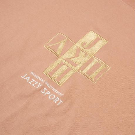 Jazzy Sport x Diaspora skateboards Cross Logo Tee (Camel)