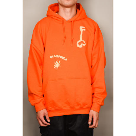 Foreboding Hooded Sweatshirt (Orange)