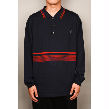 Wool Knit Polo (Brown)