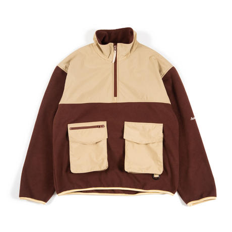 Utility Fleece Pullover / Brown - Beige