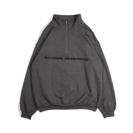 Long Letter Quarter Zip Sweatshirt ( Tweed)