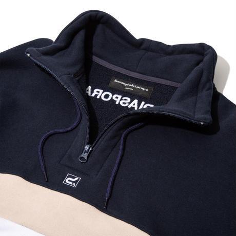 PATRICK / Club Half Zip Sweatshirt (White)
