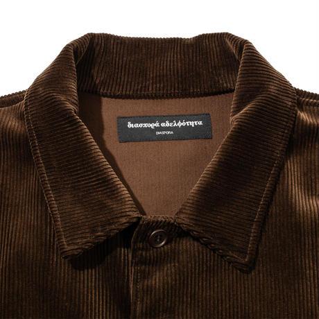 Corduroy Coach Shirt Jacket (Turquoise)