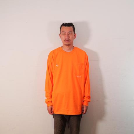 DET L/S Pocket Tee (Safety Orange)