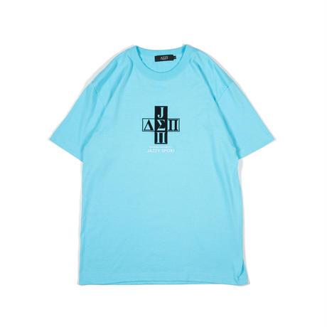 Jazzy Sport x Diaspora skateboards Cross Logo Tee (Acid Blue)