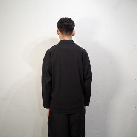 Seersucker Coach Shirt (Black)