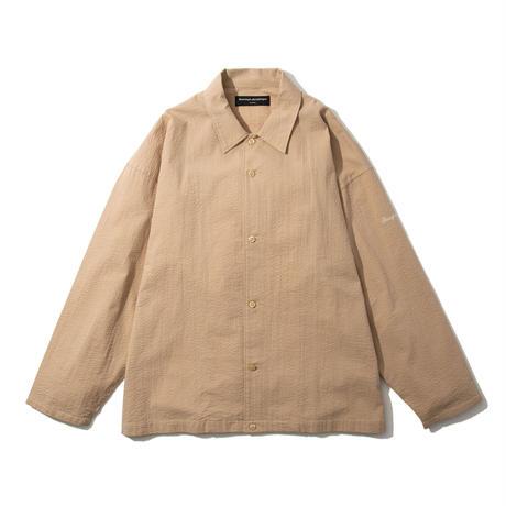 Seersucker Coach Shirt (Beige)