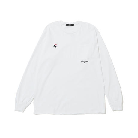 DET L/S Pocket Tee (White)