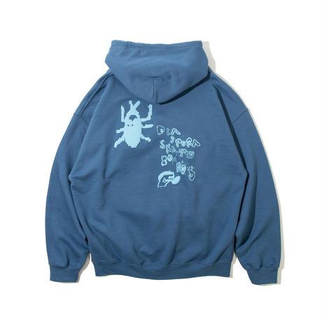 Foreboding Hooded Sweatshirt (Indigo Blue)