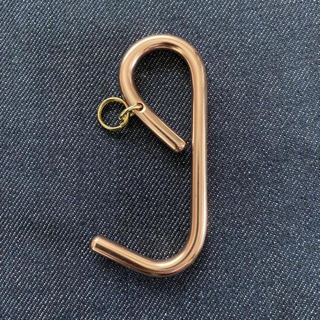 Copper e hook key holder