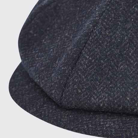 Collins tweed baker boy cap/Midnight (No,9843-83)