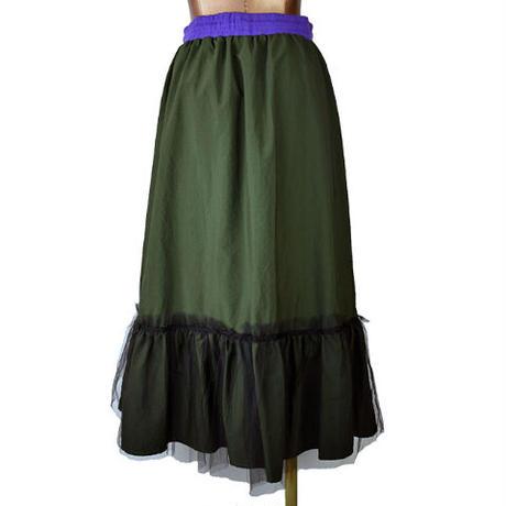 DOLLUPOOPS  ヘムチュール配色インベルスカート 〔600335〕(01-38)