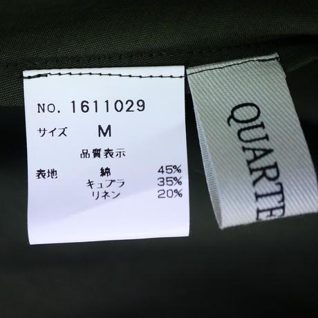 QUARTER FLASH コットン/リネン ノースリーブ ワンピース〔 1611029〕