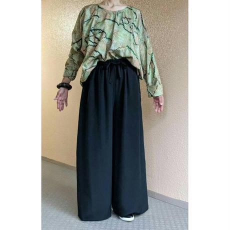 goto asato Shibori  Holiday Pullover 〔LT-PL01X〕 (03:緑の総絞りにピンクぼかし)