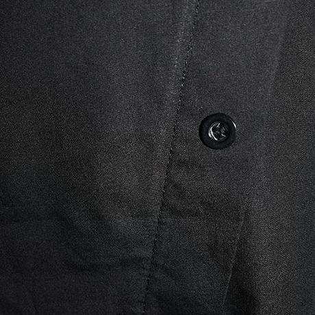 後ボタン付デザイン異素材カットソー〔OB028〕