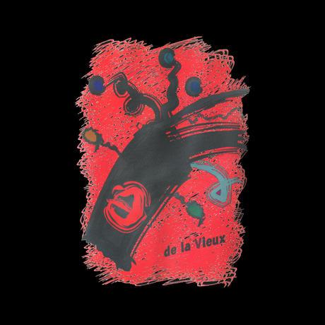 de la Vieux  オリジナルパーカー  [5390-01]  (ブラック/レッド)