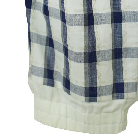 goto asato    Two-tone Jumpsuit〔GA-SS16-JS03〕(N:navy on white)