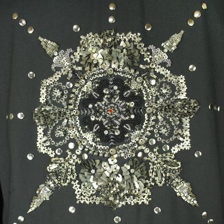 KOHSHIN  SATOH   メンズ インド刺繍 ブルゾン〔BZ-912〕(Black 54)