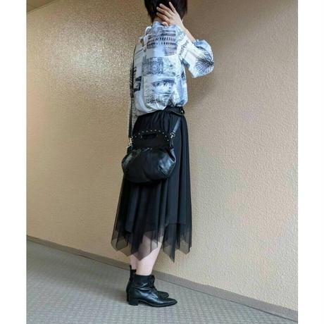 チュール裾ギザギザスカート〔OB042〕