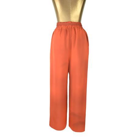 goto asato Select Maxi Trousers〔LT-TR01Z〕(02:茶系オレンジに山並み模様)