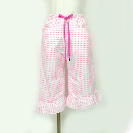 goto asato    Cotton Frilled Trousers 03     〔HP-TR03C〕 ( Pink dots)