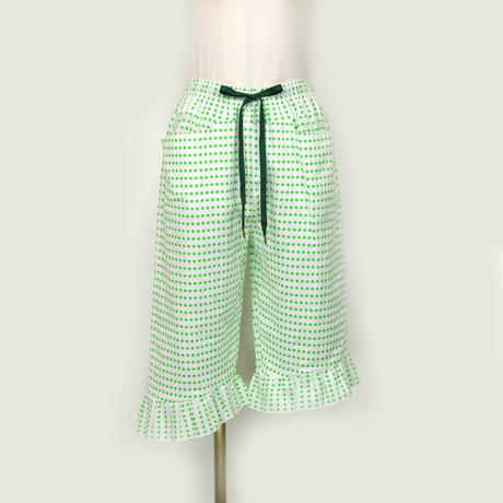 goto asato    Cotton Frilled Trousers 03     〔HP-TR03C〕 ( Green dots)