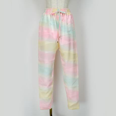 goto asato Select Slim Trousers〔HP-TR06X〕(黄青ピの虹柄)