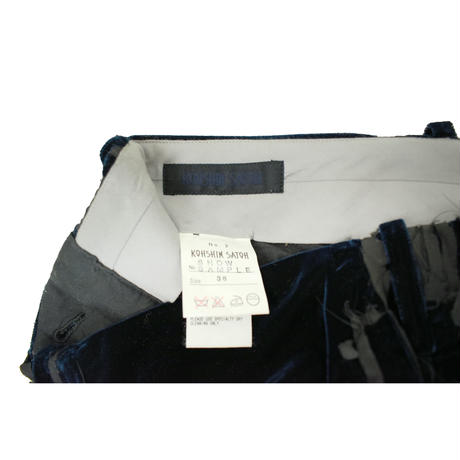 KOHSHIN  SATOH  レディース ベロア×ダメージ調 スーツ〔PSU-011〕(Navy 36)