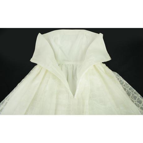 QUARTER FLASH オーガンジーレースベアワンピース〔1610601〕(White)