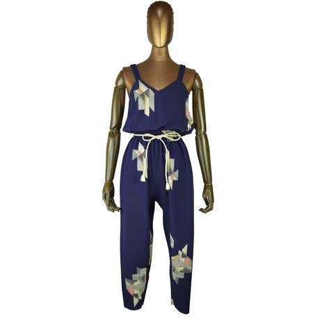 goto asato   Select Lightning Jumpsuit〔LT-JS01Z〕(02:濃い紫地に抽象幾何模様)