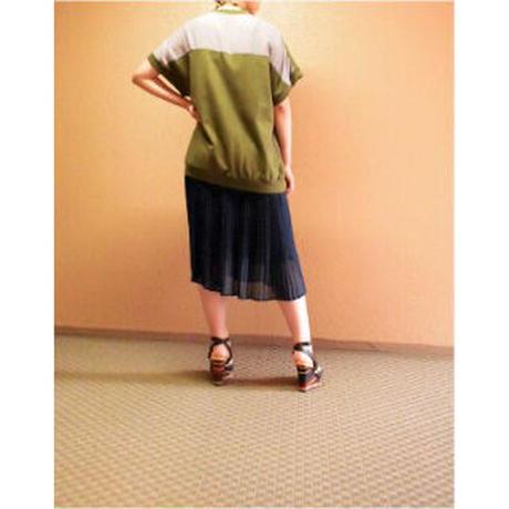 TITILATE VALET  切替プリーツ ワンピース〔605082〕(02-38)