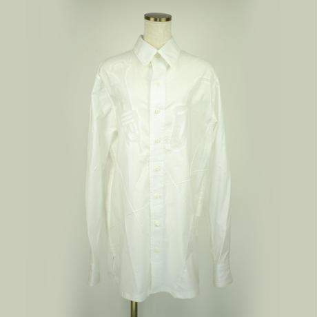 KOHSHIN SATOH メンズ デザインシャツ〔SL-210〕(White-48)