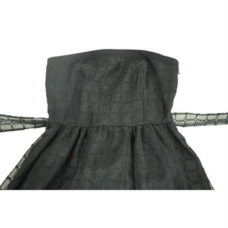 QUARTER FLASH オーガンジーレースワンピース〔1560909〕(Black)